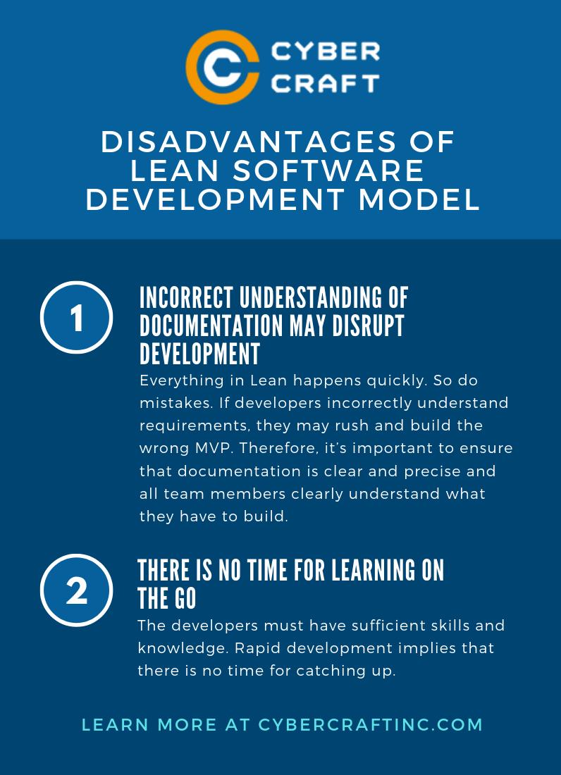 Disadvantages of Lean Model